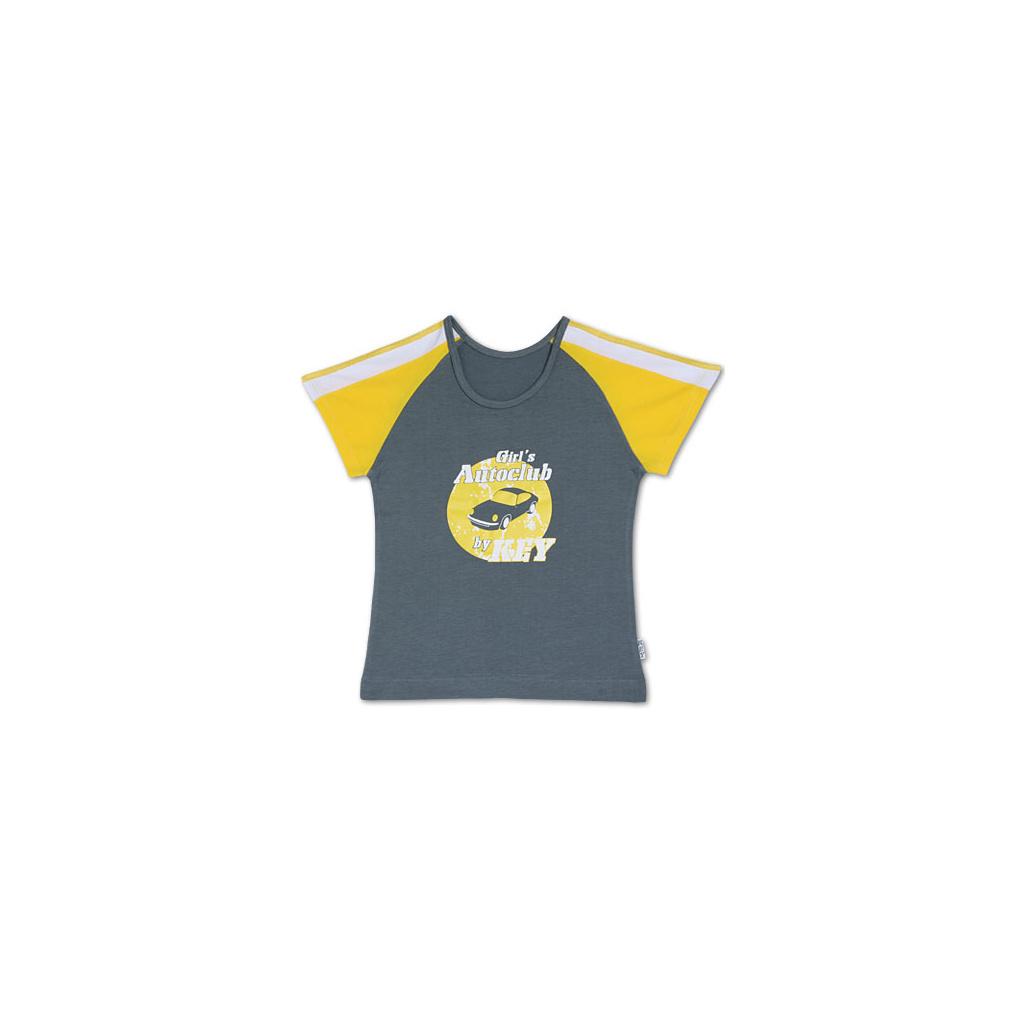 Dívčí tričko KEY šedé