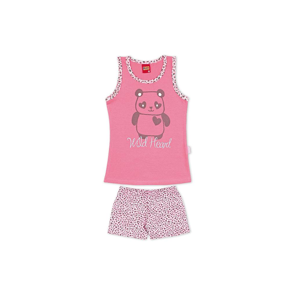 Dívčí letní pyžamo Kyly WILD HEART růžové