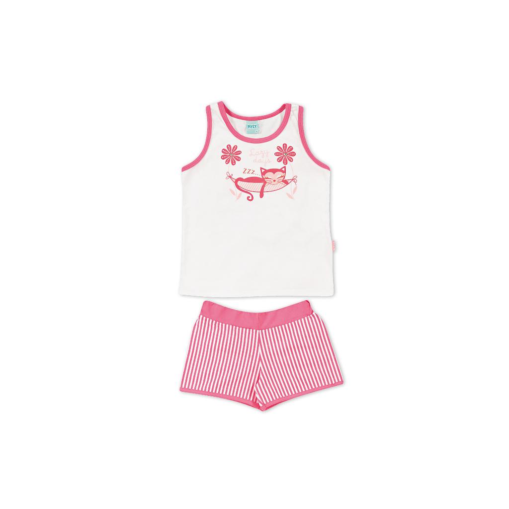 Dívčí letní pyžamo Kyly KOČKA růžové