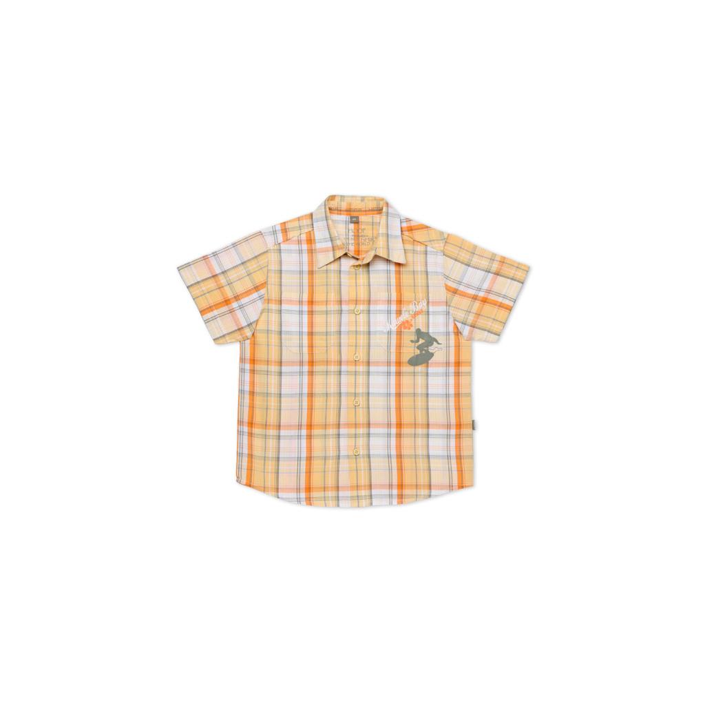 Dětská košile krátký rukáv TUP TUP oranžová