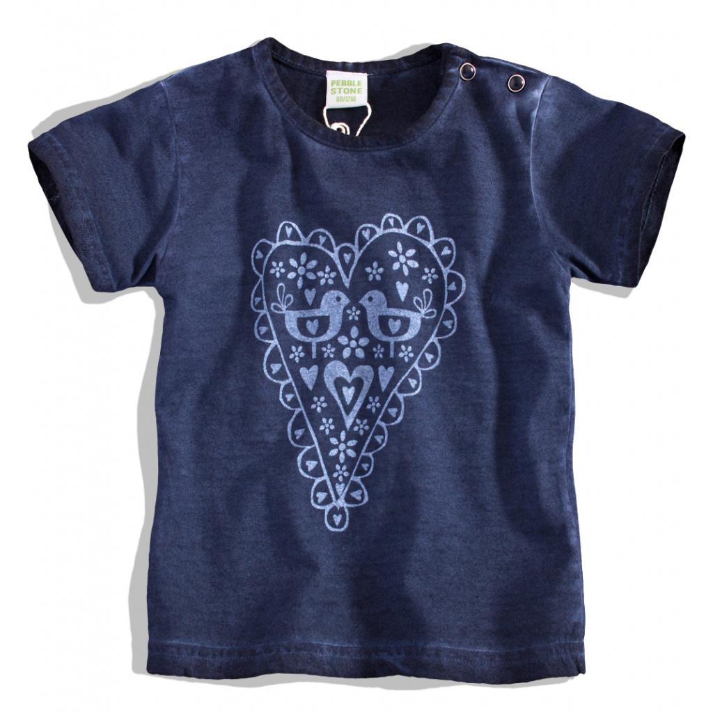 Kojenecké dívčí tričko SRDÍČKO