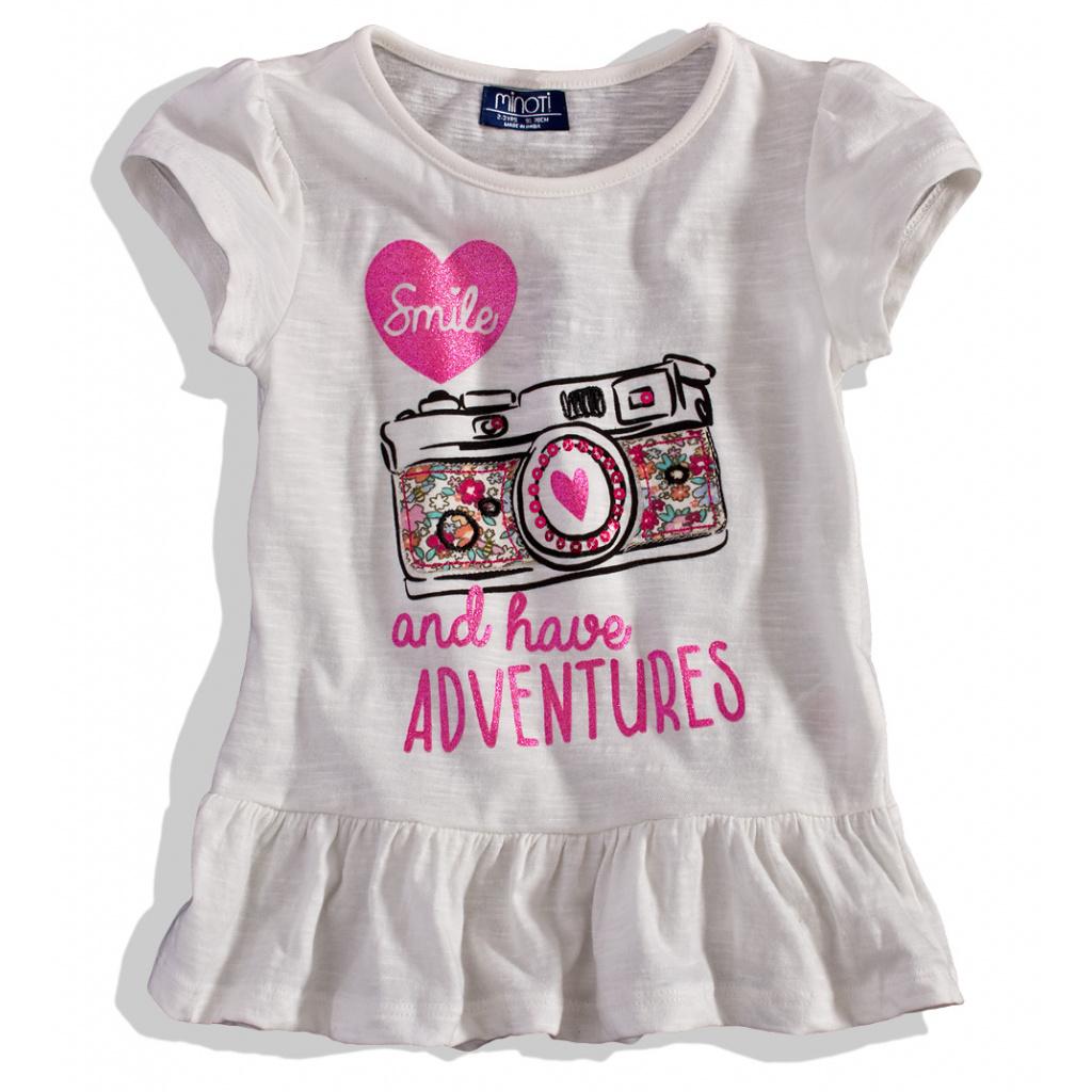 9c1eb66dd91 Dětské tričko krátký rukáv Minoti bílé