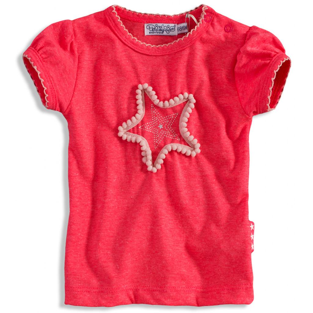 dd7d9fc246d Dívčí tričko Dirkje PINKY STAR růžové neon