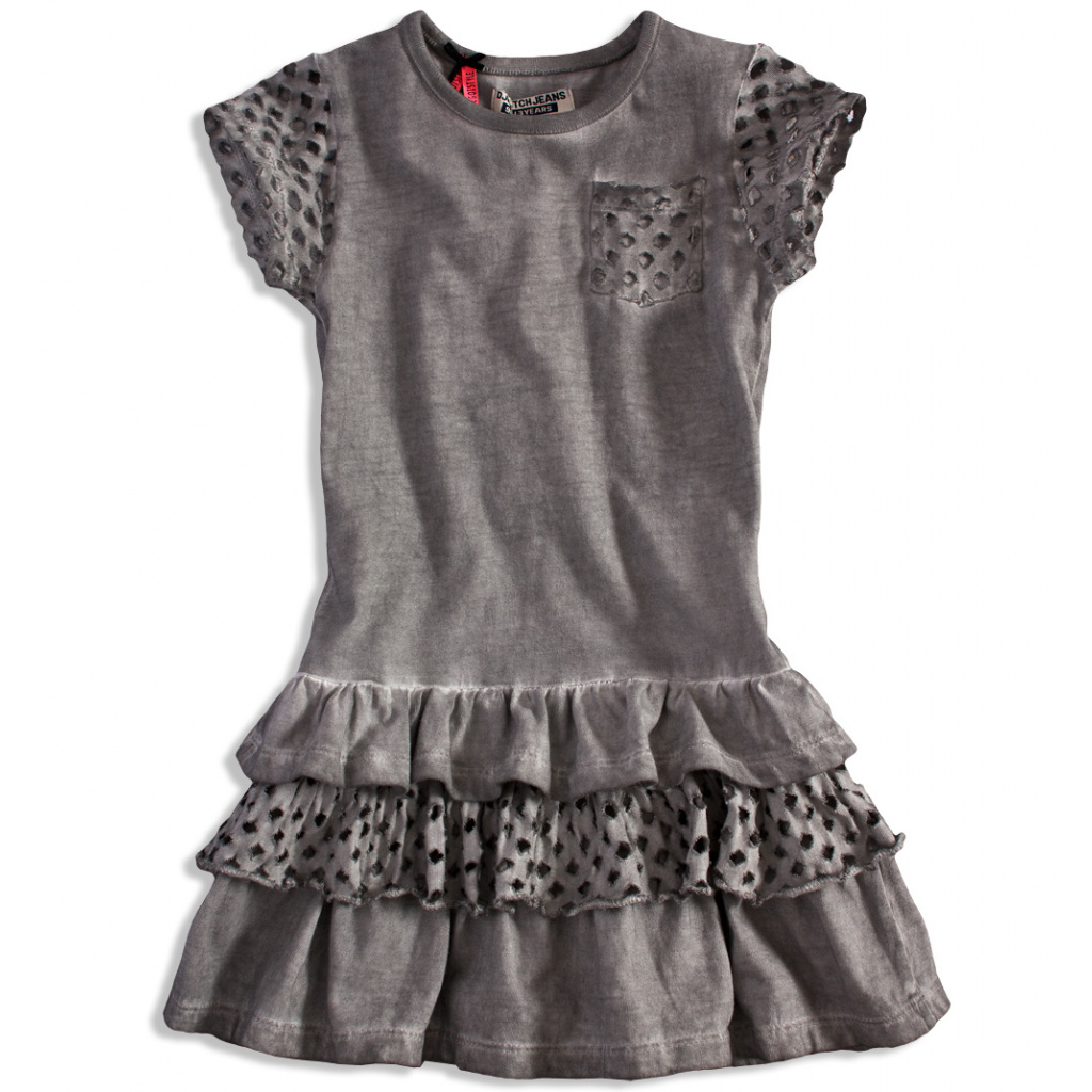 630504e1d7cc Dívčí šaty DIRKJE STYLISH šedé