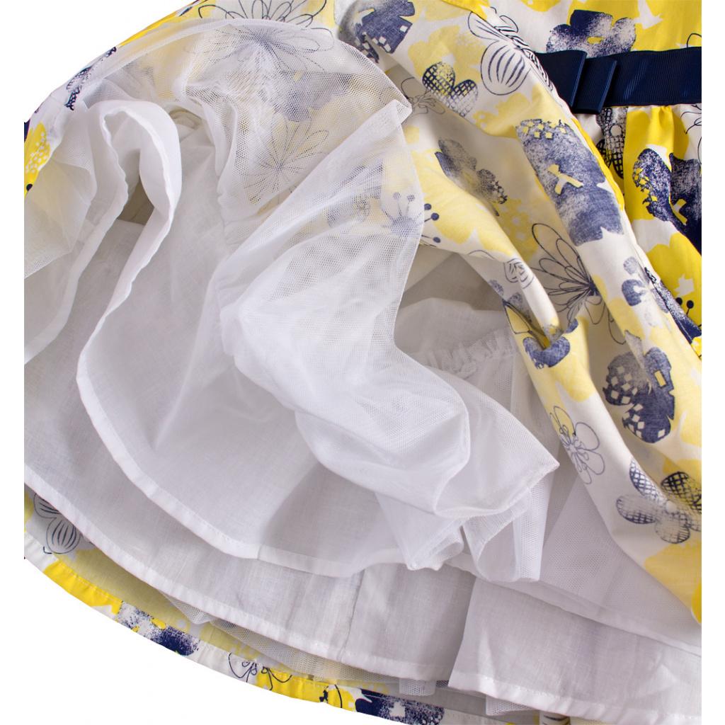 2565fde6b6e ... Dívčí šaty bez rukávů MINOTI BLOOM žluté ...
