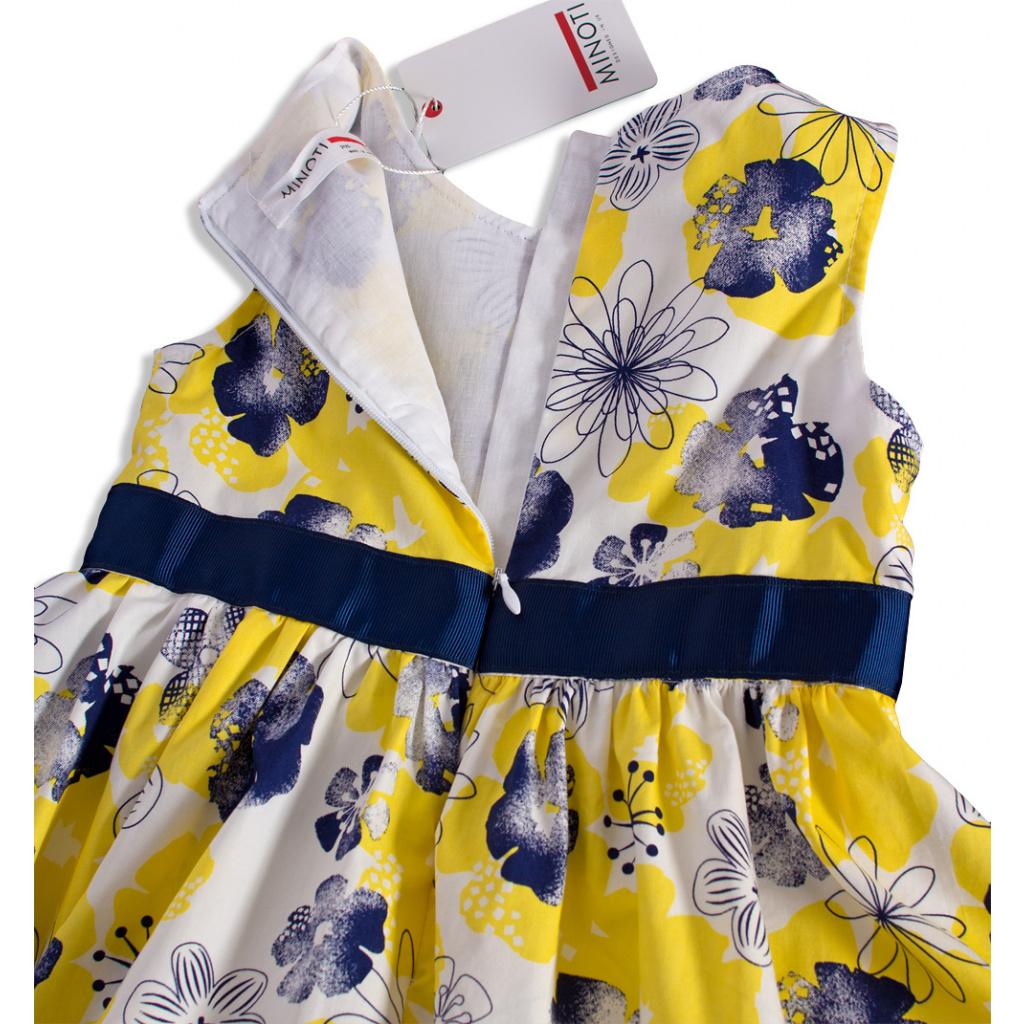 426820c9717 ... Dívčí šaty bez rukávů MINOTI BLOOM žluté