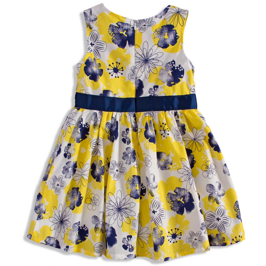 63897c06dc2 Dívčí šaty bez rukávů MINOTI BLOOM žluté ...