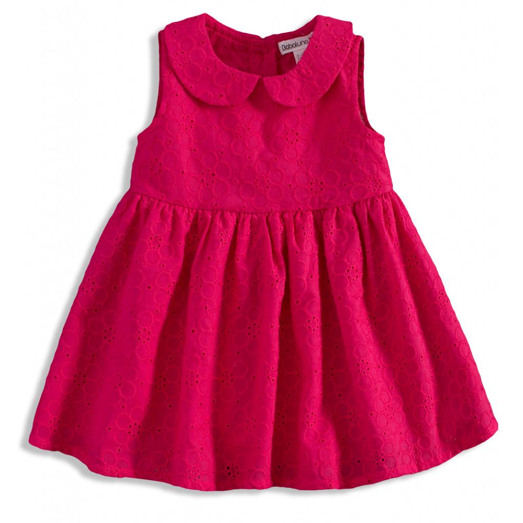 896d8d351222 Kojenecké šaty pro holčičky tmavě růžová