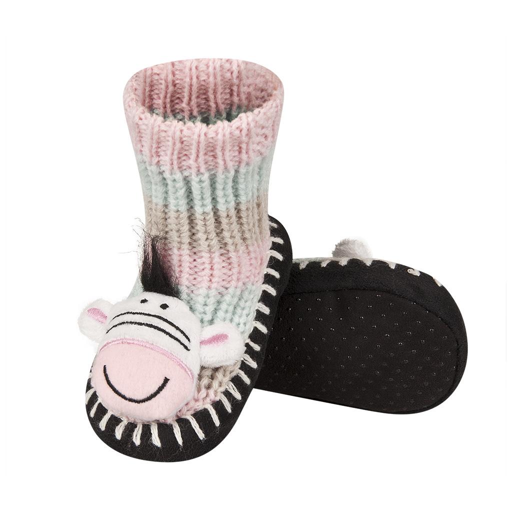 0270f481946 Pletené ponožky SOXO ZEBRA růžové
