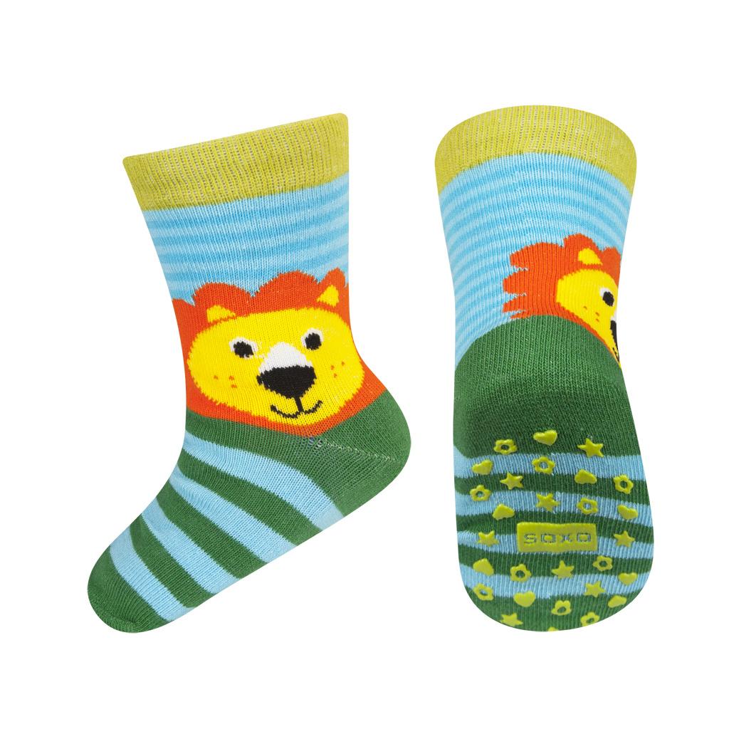 54bc741d030 Dětské ponožky s protiskluzem SOXO LEV zelené