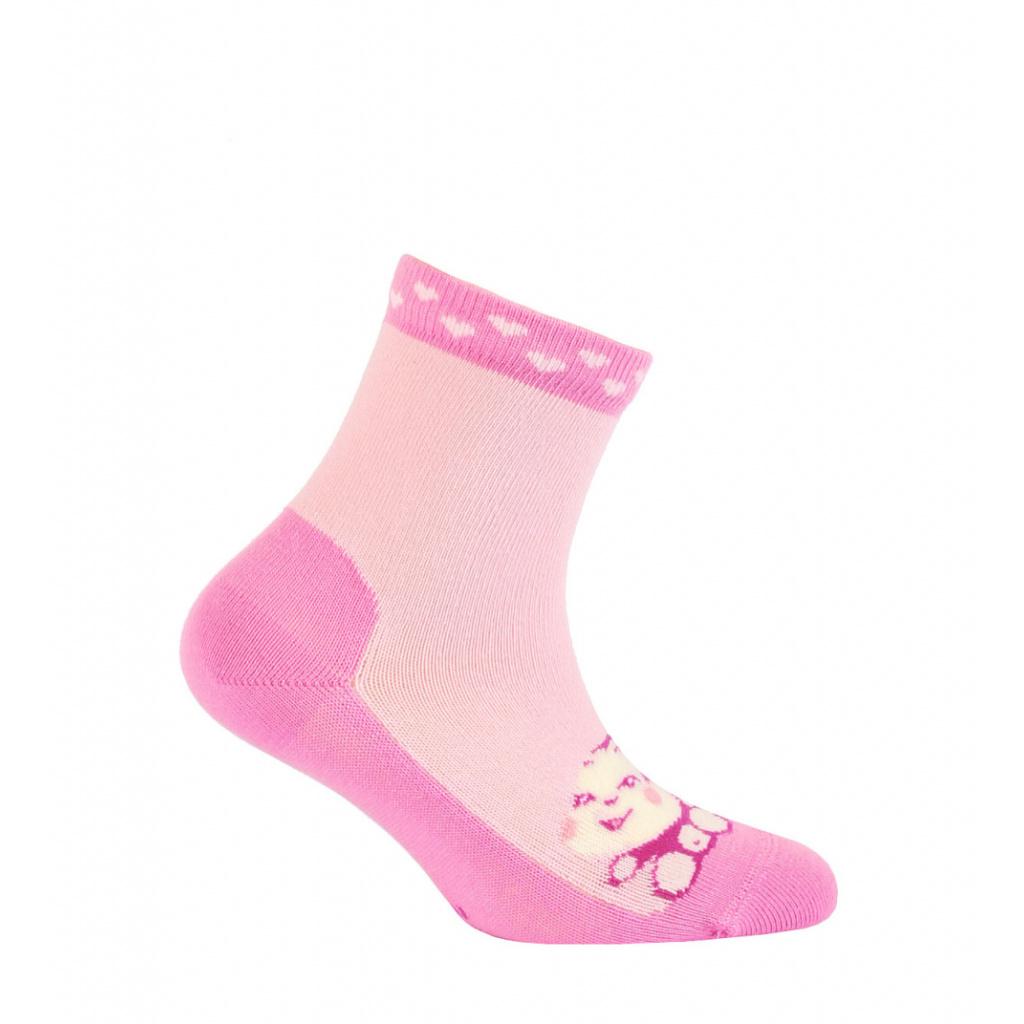 Dívčí vzorované ponožky GATTA OPIČKA růžové