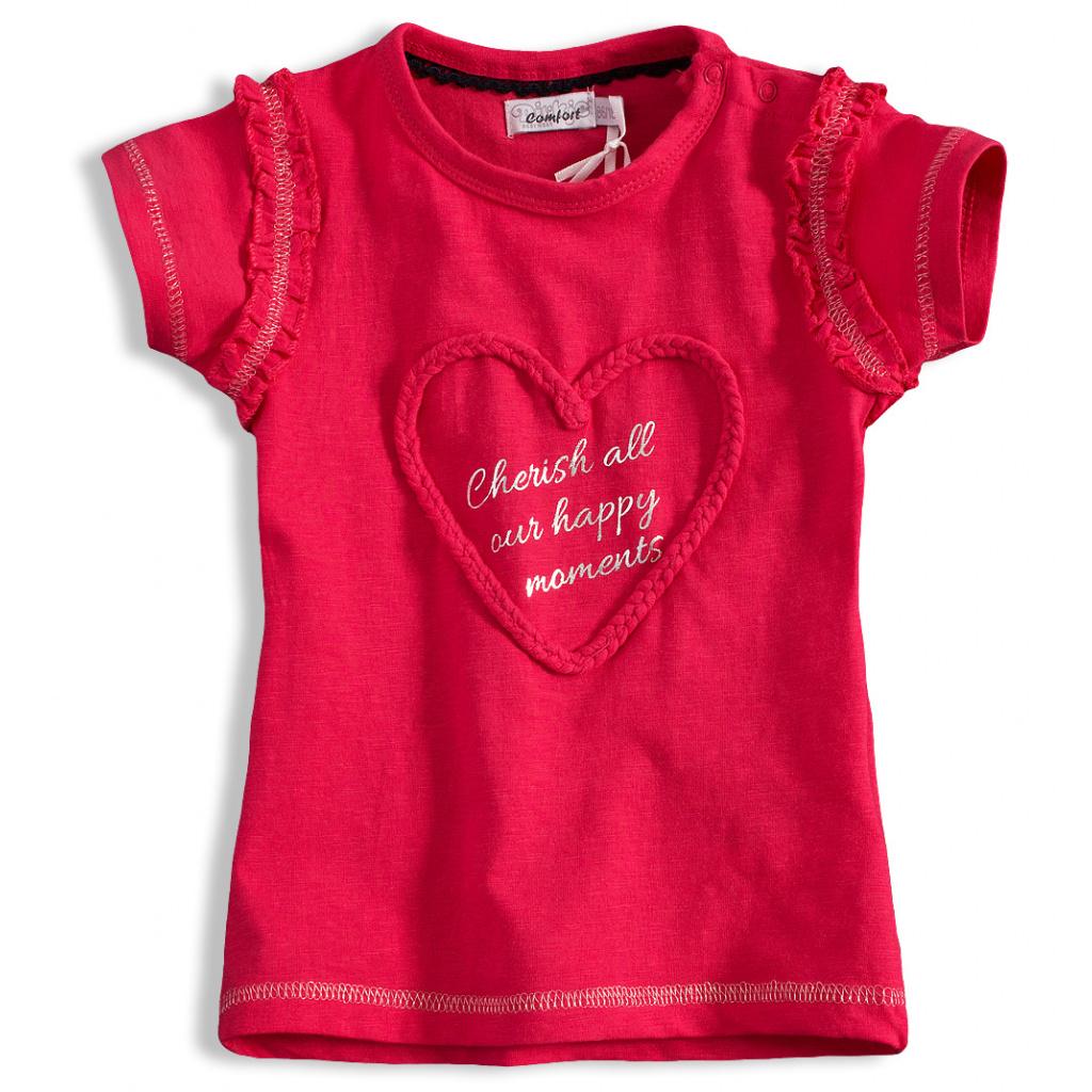 Dětské tričko DIRKJE SRDÍČKO růžové