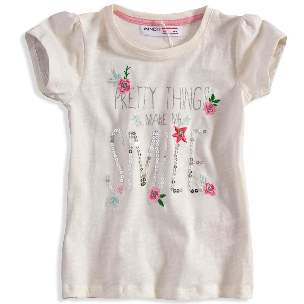 Dívčí tričko Minoti DITSY bílé