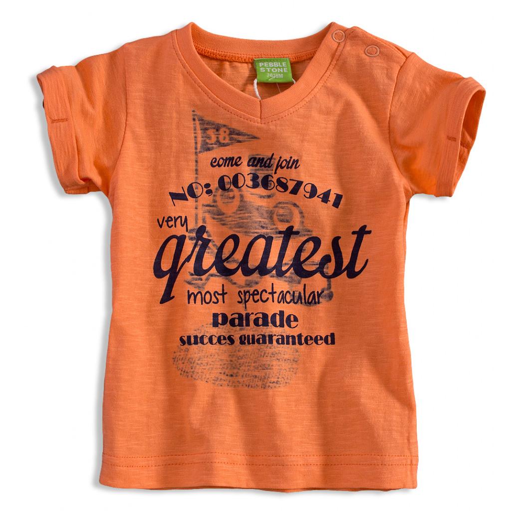 Kojenecké tričko PEBBLESTONE GREATEST oranžové