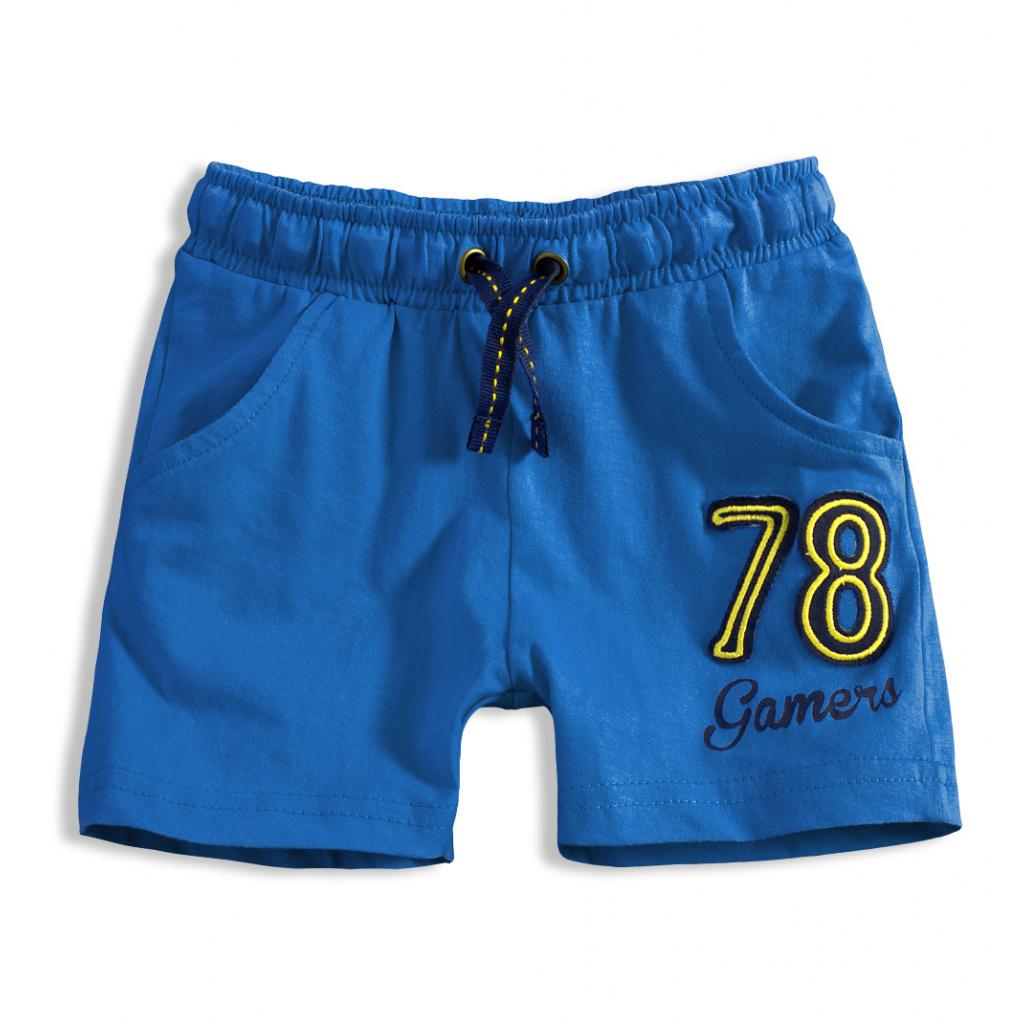 Chlapecké bavlněné šortky KNOT SO BAD GAMERS modré  9c55908ae9