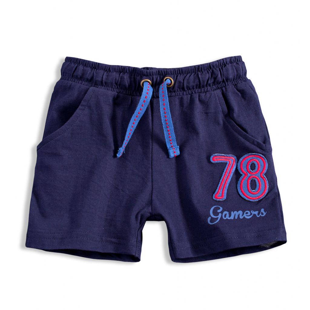 Chlapecké bavlněné šortky KNOT SO BAD GAMERS tmavě modré  d1dd3be1dd