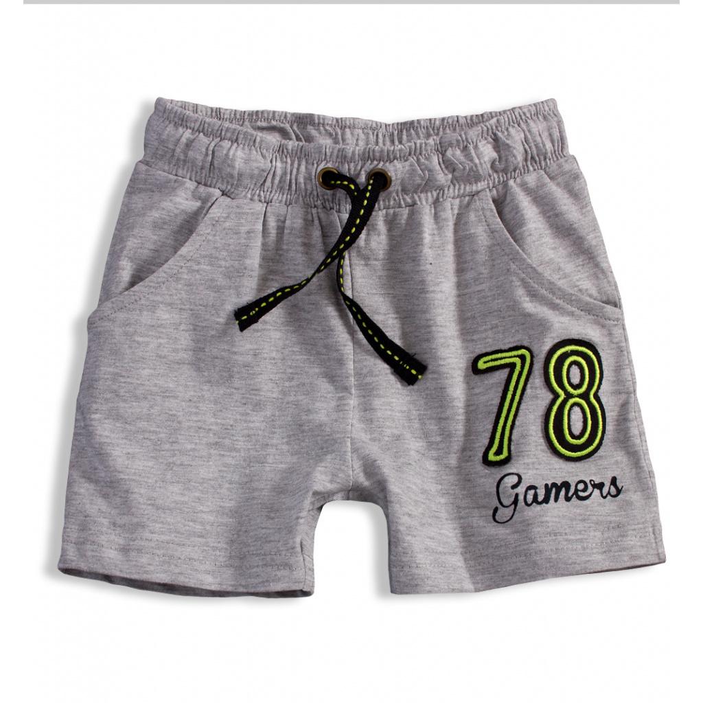 Chlapecké bavlněné šortky KNOT SO BAD GAMERS šedé  3d83b7d227