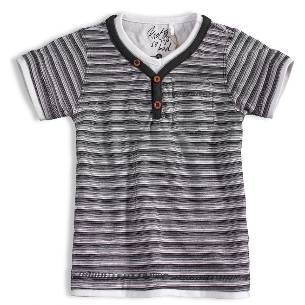 Chlapecké tričko KNOT SO BAD PROUŽKY šedé