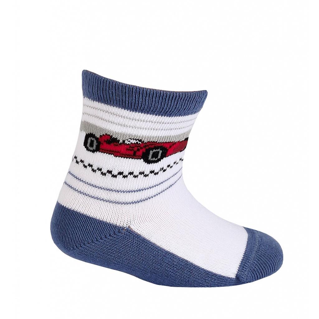 Vzorované chlapecké ponožky GATTA FORMULE modré