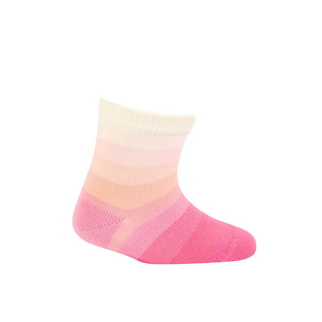 Kojenecké ponožky WOLA PROUŽKY růžové