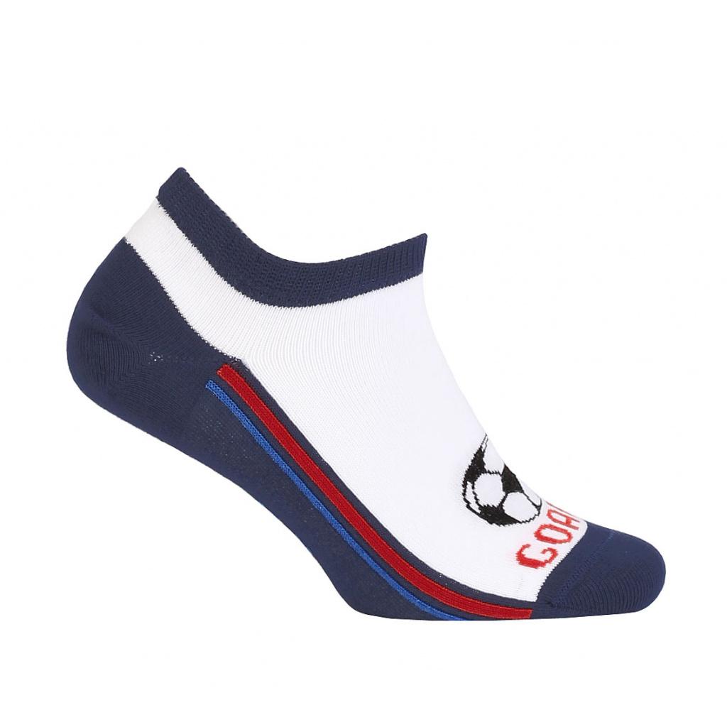 1f7e7dc7aac Chlapecké kotníkové ponožky WOLA GOAL modré