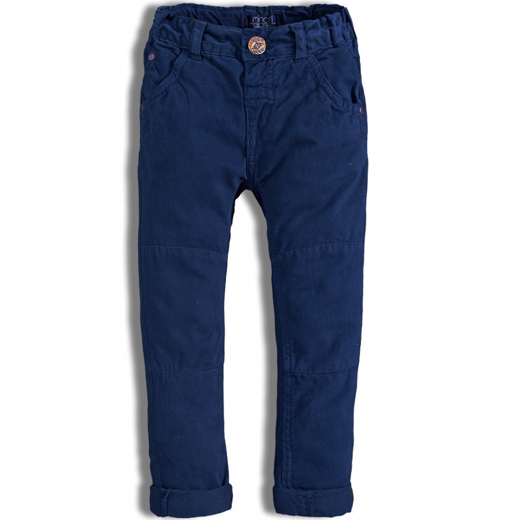 Dětské kalhoty MINOTI AUTO modré