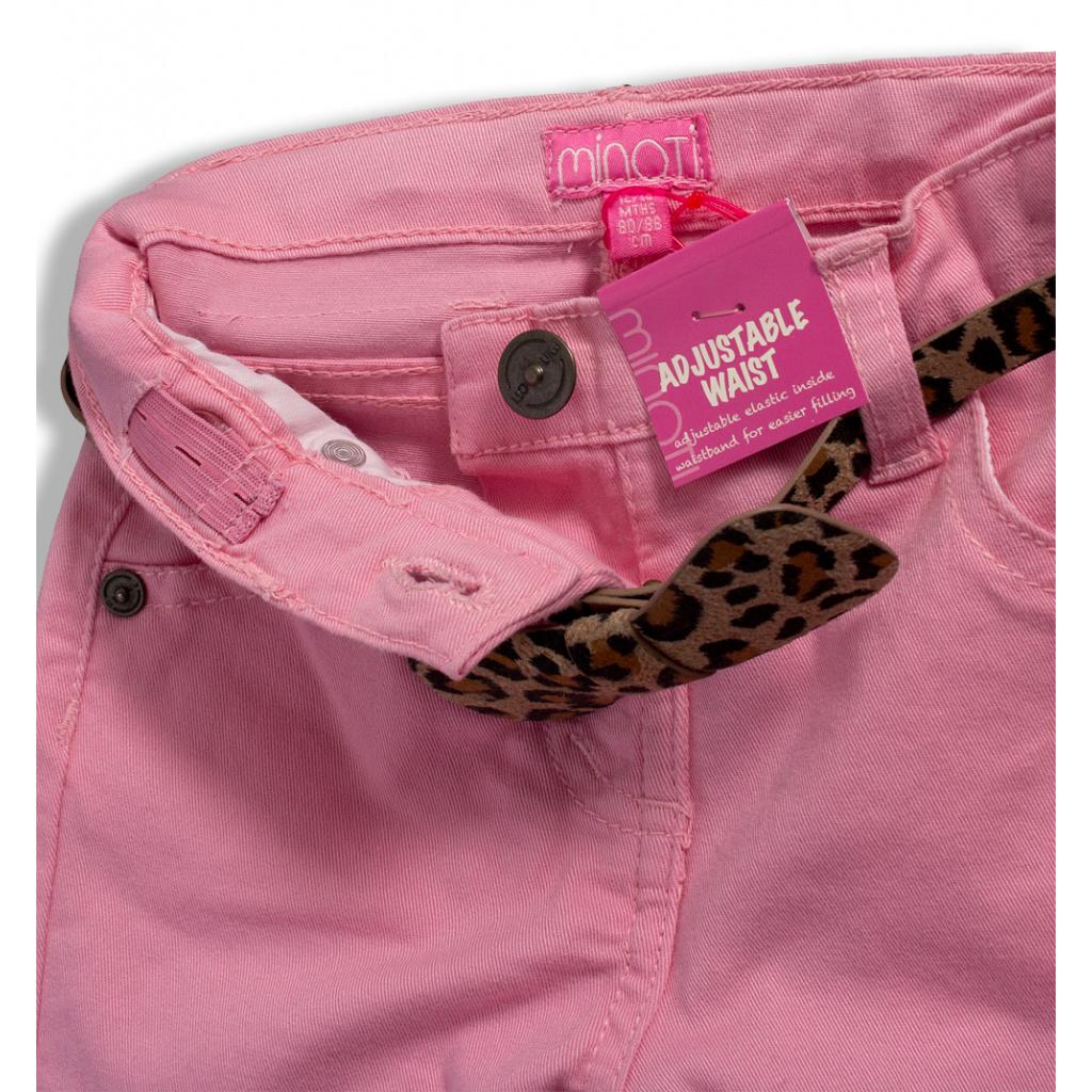 d4ffcab3969 ... Dívčí barevné džíny MINOTI PARTY světle růžové ...