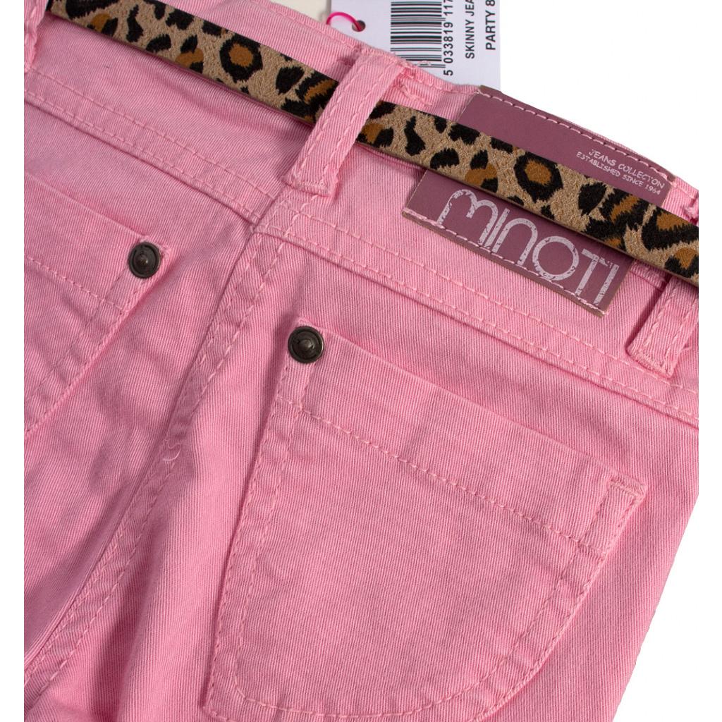 a3d91ec6604 ... Dívčí barevné džíny MINOTI PARTY světle růžové