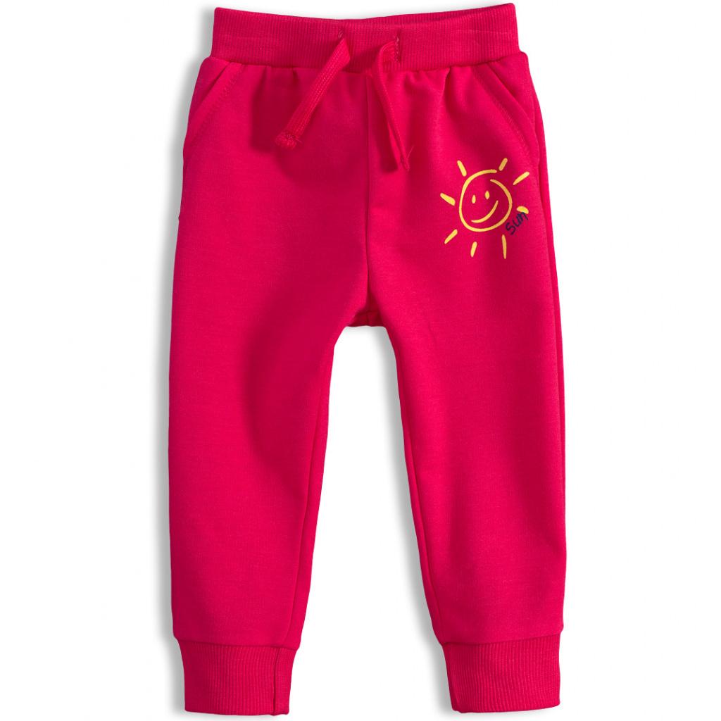 Dívčí tepláčky KNOT SO BAD SUN růžové