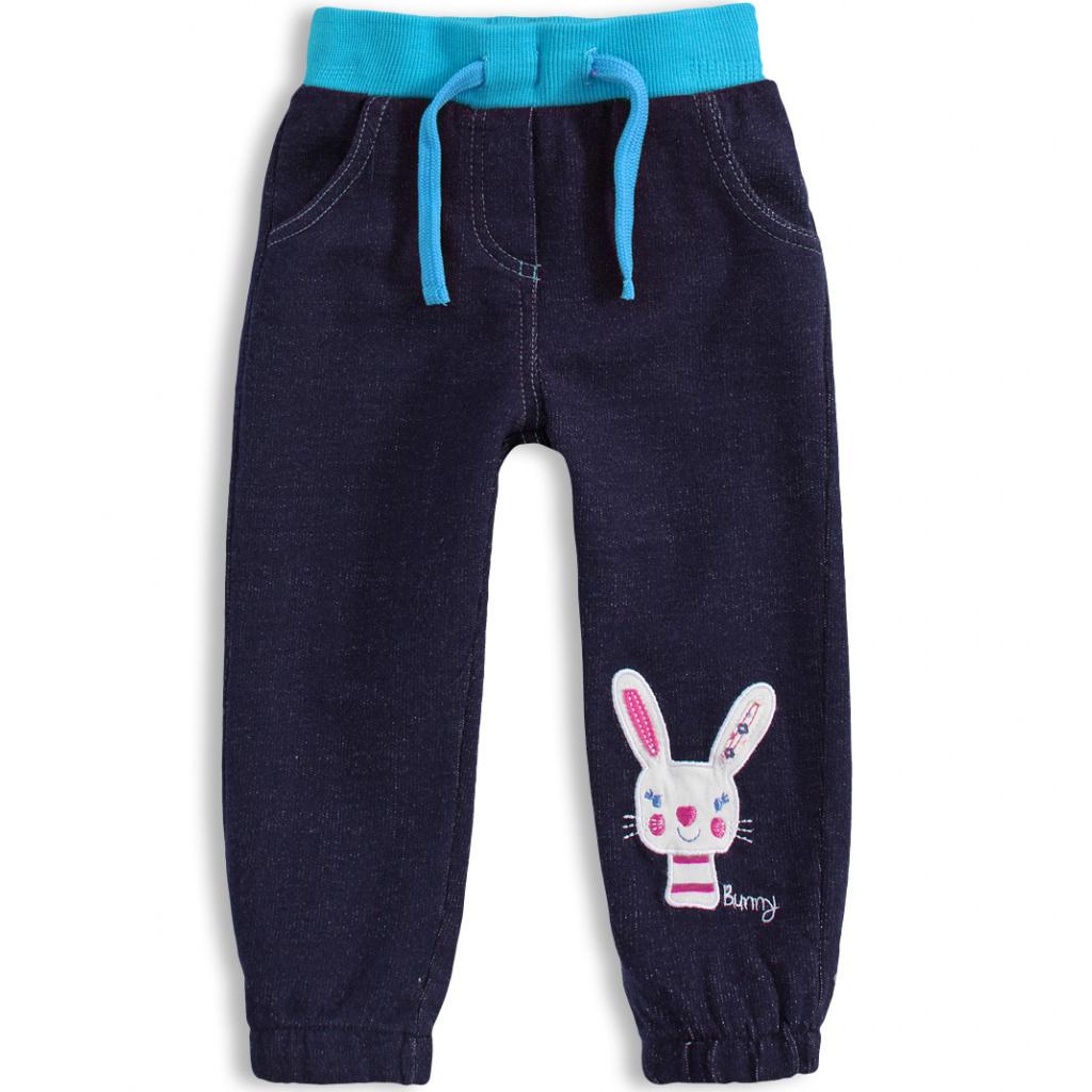 Kalhoty pro holčičky Mix´nMATCH BUNNY modré