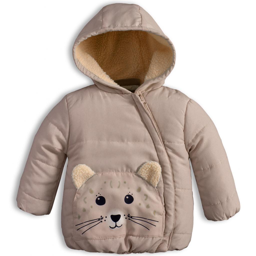 Dětská zimní bunda KNOT SO BAD ANIMALS béžová