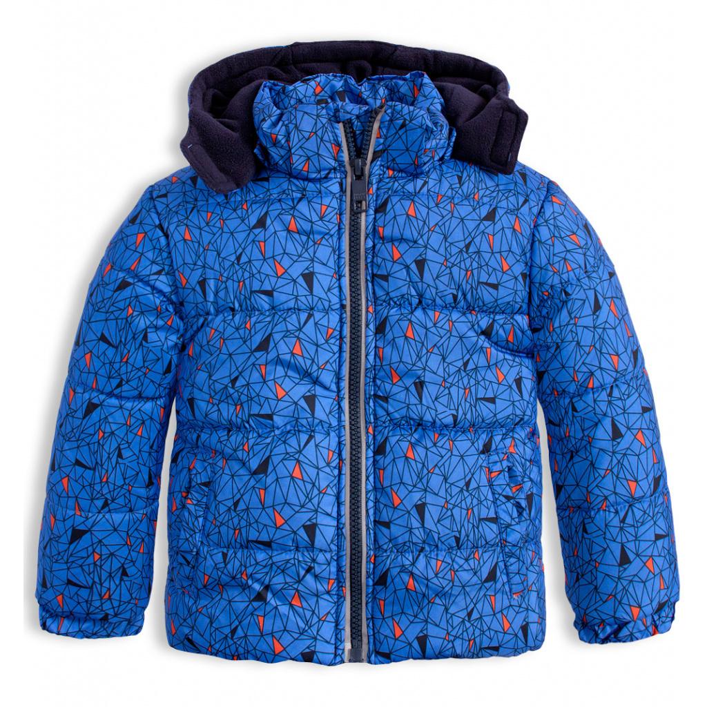 Chlapecká zimní bunda LEMON BERET GEOMETRIC modrá
