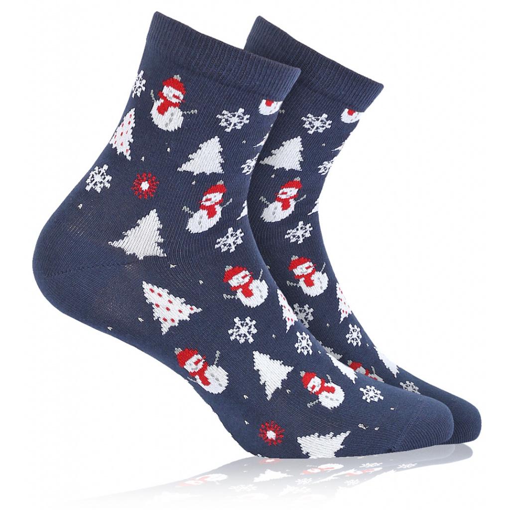 76ba6916290 Dětské ponožky s vánočním motivem WOLA SNĚHULÁCI modré