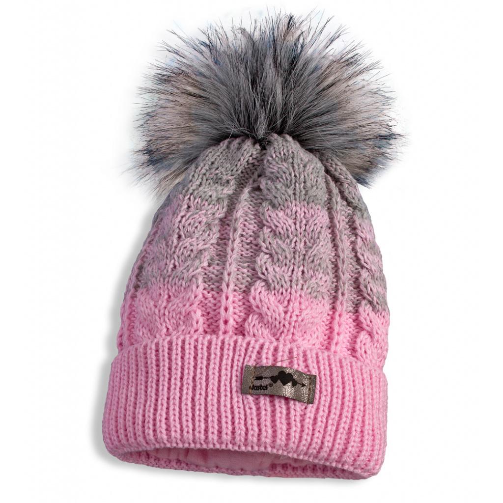 26db405ad55 Dívčí zimní čepice a nákrčník DASTEL MATYLDA světle růžová