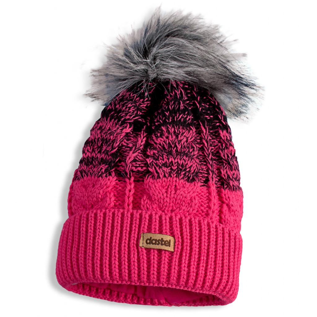 d389be6e573 Dívčí zimní čepice a nákrčník DASTEL MATYLDA tmavě růžová