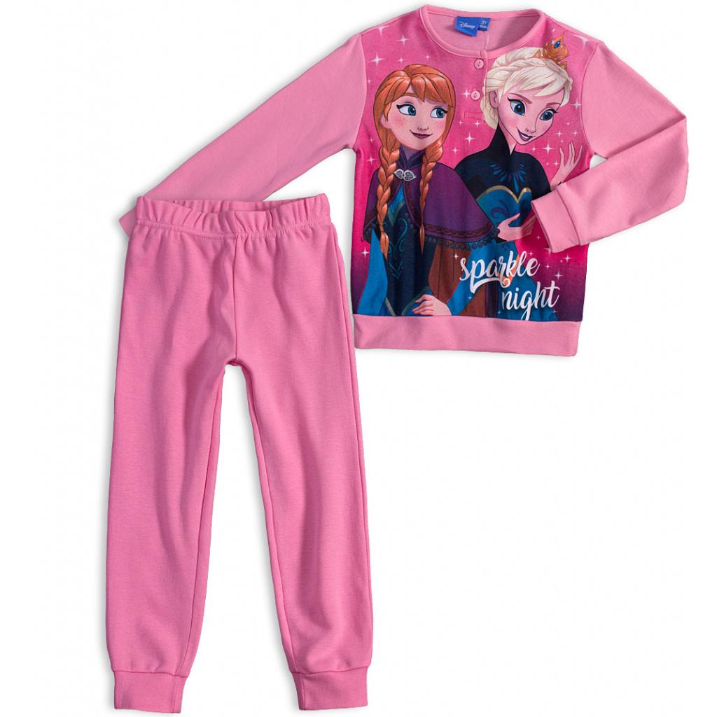 fed26da11c1d Dívčí pyžamo DISNEY FROZEN ANNA a ELSA světle růžové