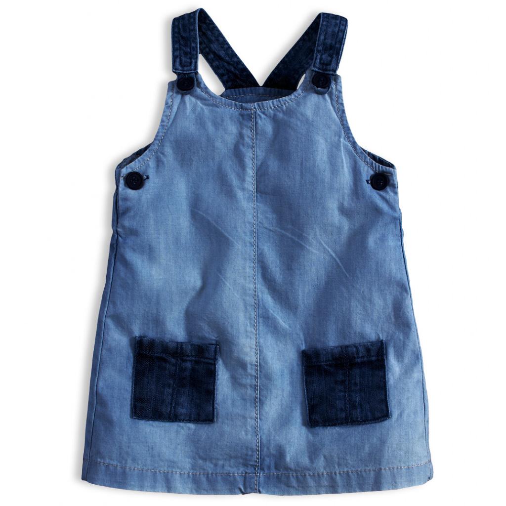 Dívčí šaty KNOT SO BAD DENIM STYLE tmavší modré
