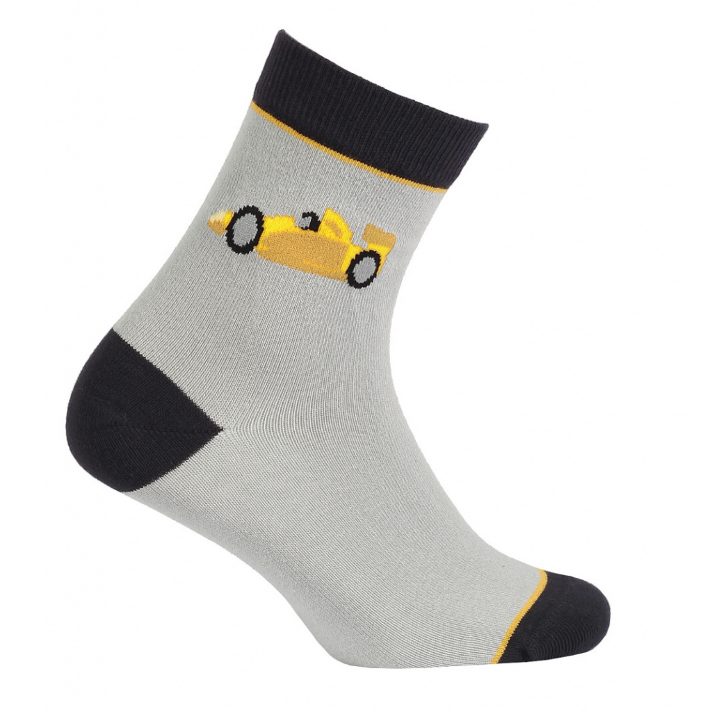 Chlapecké vzorované ponožky GATTA FORMULE šedé