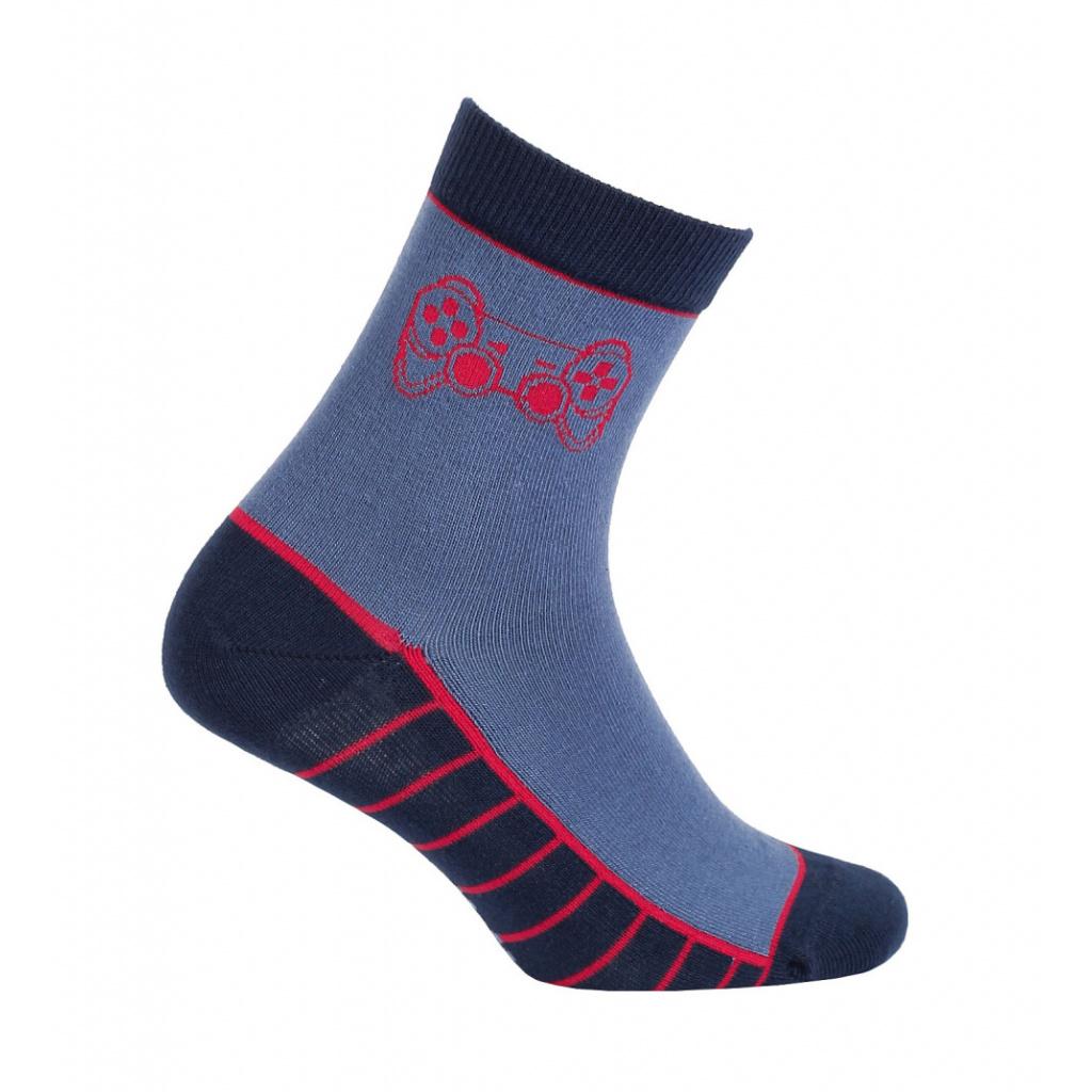 Vzorované chlapecké ponožky GATTA GAME modré