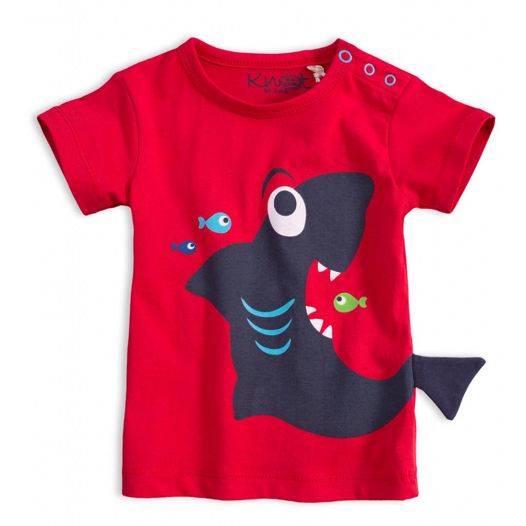 Dětské tričko KNOT SO BAD ŽRALOK červené