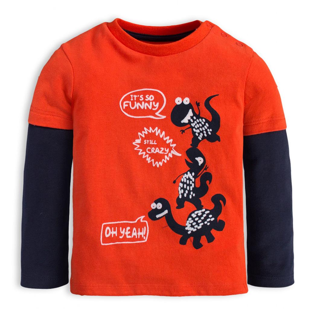 Chlapecké tričko KNOT SO BAD CRAZY DINO oranžové