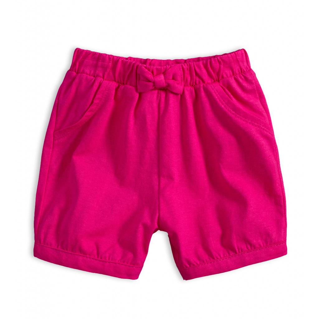 Dívčí bavlněné šortky KNOT SO BAD GIRLY PINK růžové