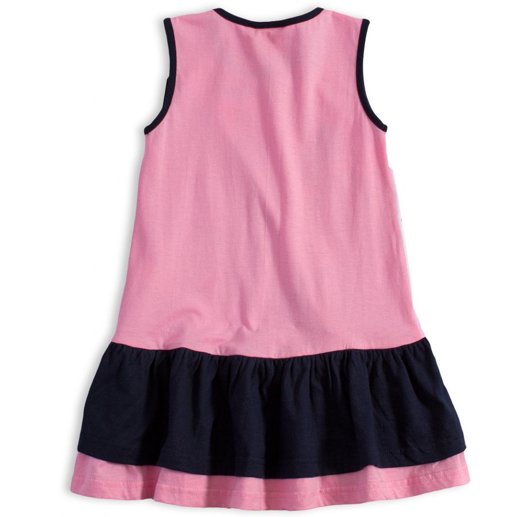 31d2e2d3789a ... Dívčí letní šaty Disney MINNIE GARDEN modrý volán