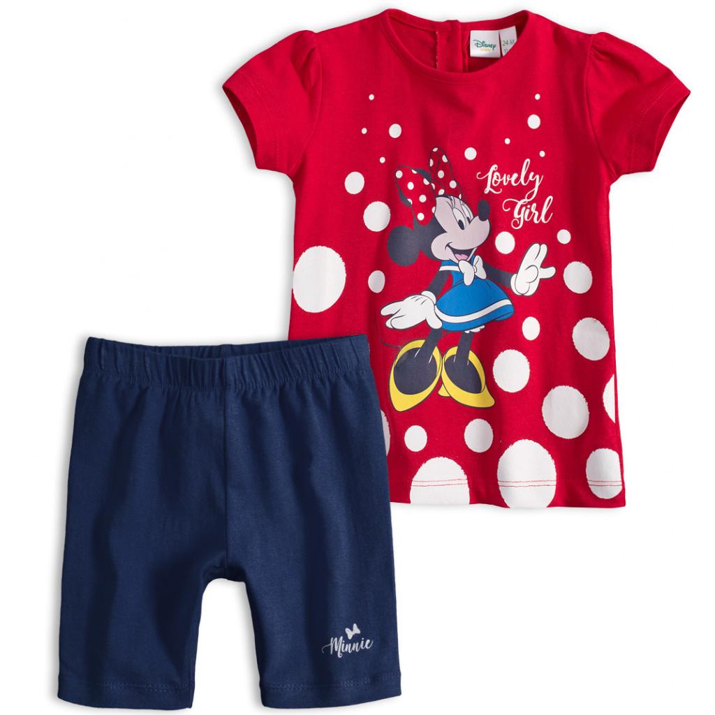 Dětská letní souprava Disney MINNIE LOVELY GIRL červená