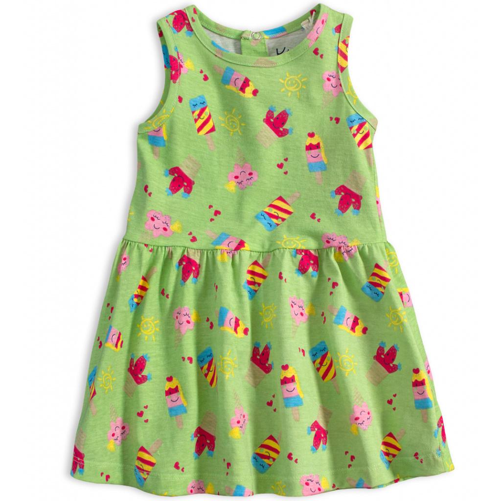 Kojenecké letní šaty KNOT SO BAD ICE CREAM zelené