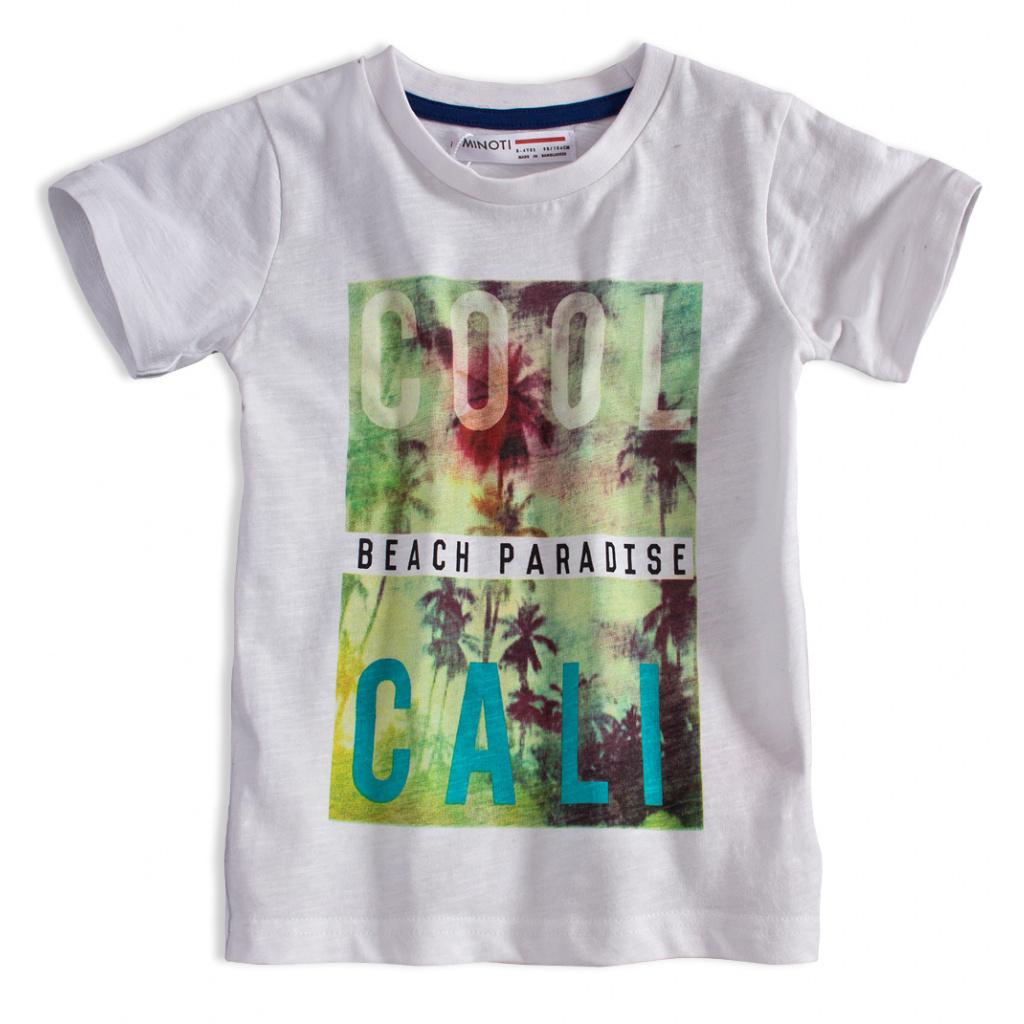 Dětské tričko s potiskem MINOTI HEAT bílé