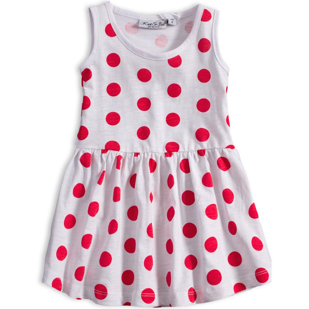 Dívčí letní šaty KNOT SO BAD PUNTÍKY červené