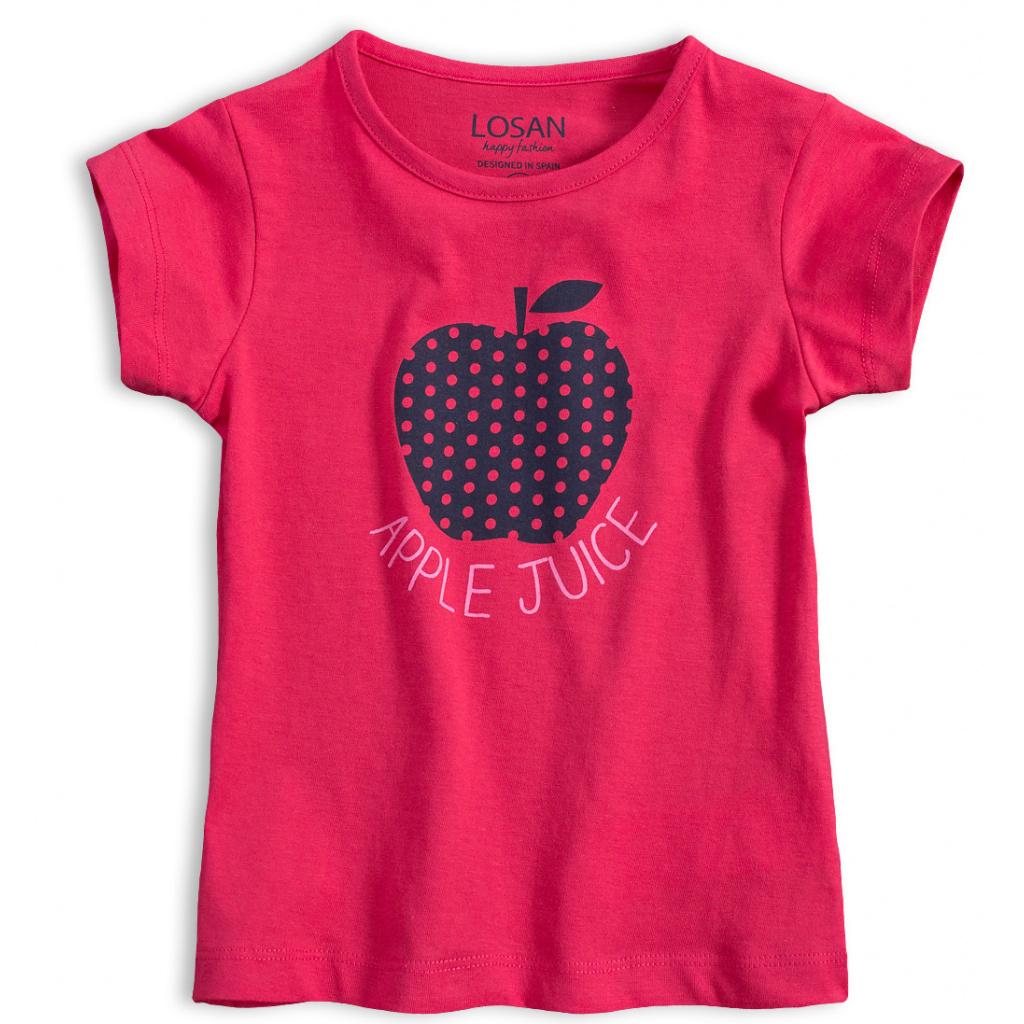 Dívčí tričko LOSAN JABLÍČKO růžové