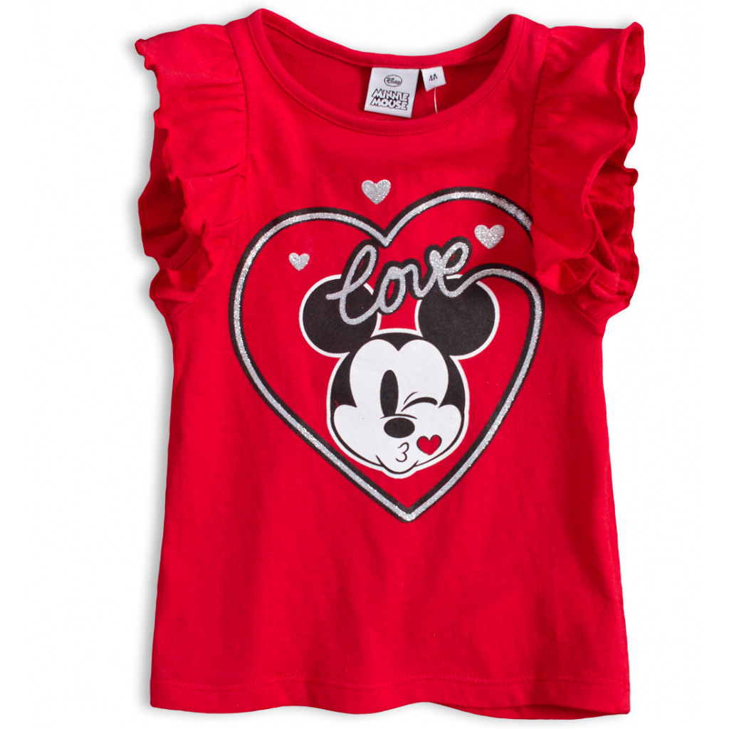 Dívčí tričko DISNEY MINNIE LOVE červené
