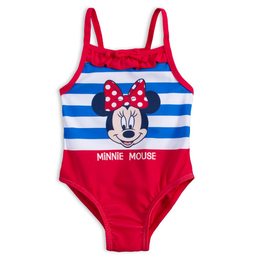 Jednodílné plavky pro holčičky DISNEY MINNIE BABY červené